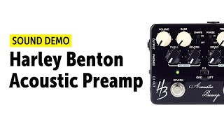Harley Benton Acoustic Preamp - Sound Demo (no talking)