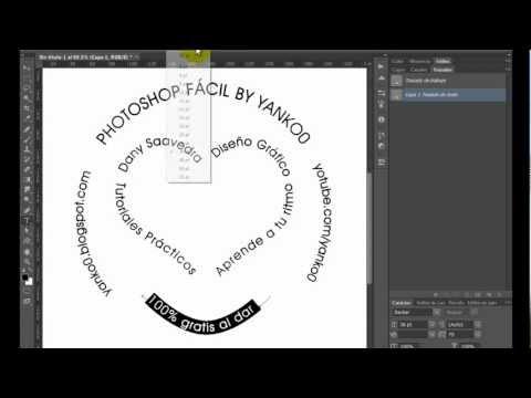 Texto en circulo y trazados Photoshop Fácil Yanko0