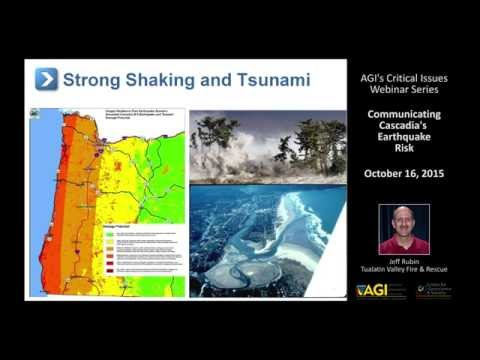 Critical Issues Webinar: Communicating Cascadia's Earthquake Risk