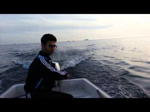 DENİZ MOTORU FUJİ 15 HP 4 ZAMANLI UZUN ŞAFT   +  FİBER TEKNE VIDEO