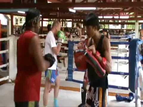 May 2009 Theng teaching at Rawai Muay Thai Camp Phuket Thailand
