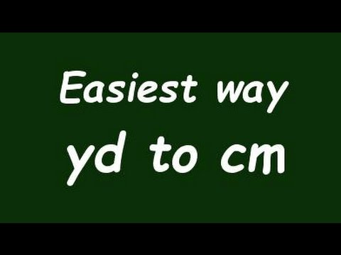 Convert Yard To Centimeter Yd To Cm
