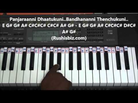 O Bangaru Rangula Chilaka - Piano Tutorials