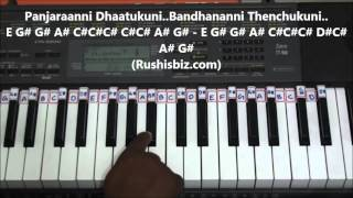 Download Hindi Video Songs - O Bangaru Rangula Chilaka - Piano Tutorials