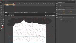 Nube de lluvia Tutorial de Animación de Adobe Animate CC