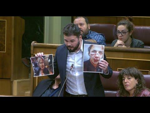 GABRIEL RUFIAN (ERC) en el Congreso tras suspensión INDEPENDENCIA de CATALUÑA (11/10/2017)