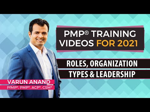 PMBOK 6 Edition Videos - Roles Organization Types and Leadership Video -6 (2018)