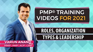 PMP exam prep-PMP 6th edition training videos-Roles Organization Types and Leadership (2020)-Video 6