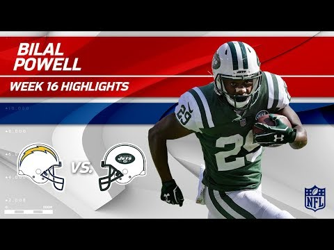 Bilal Powell Highlights   Chargers vs. Jets   NFL Wk 16 Player Highlights