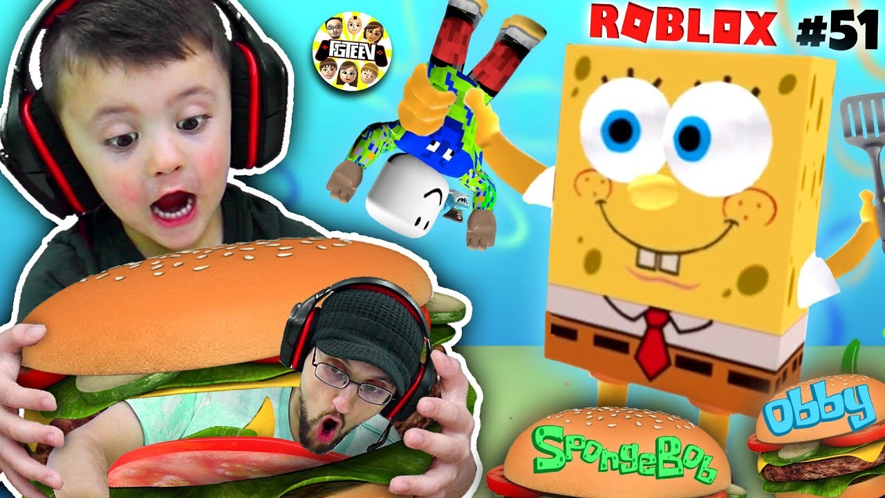 ESCAPE SPONGEBOB KRUSTY KRAB OBBY (FGTEEV Roblox # 51) + video