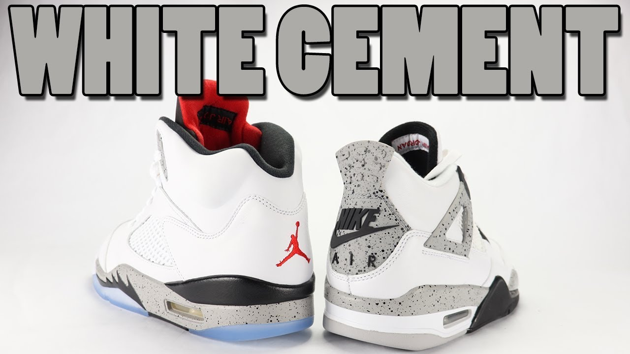 the best attitude 37309 51a26 White Cement Air Jordan 5 vs Air Jordan 4 Comparison
