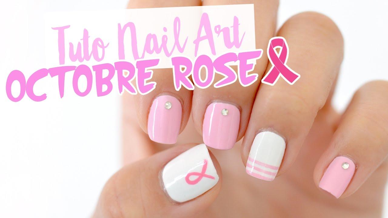 Un Nail art pour Octobre Rose ♡