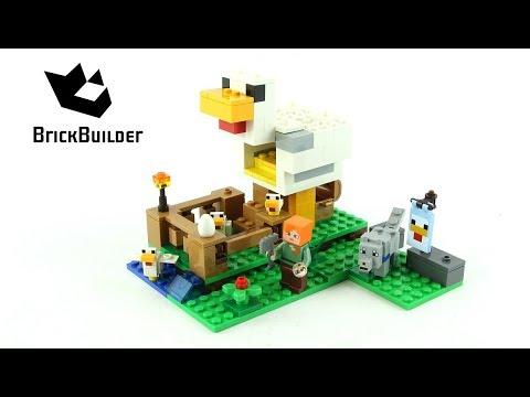 Lego Minecraft 21140 The Chicken Coop - Lego Speed Build