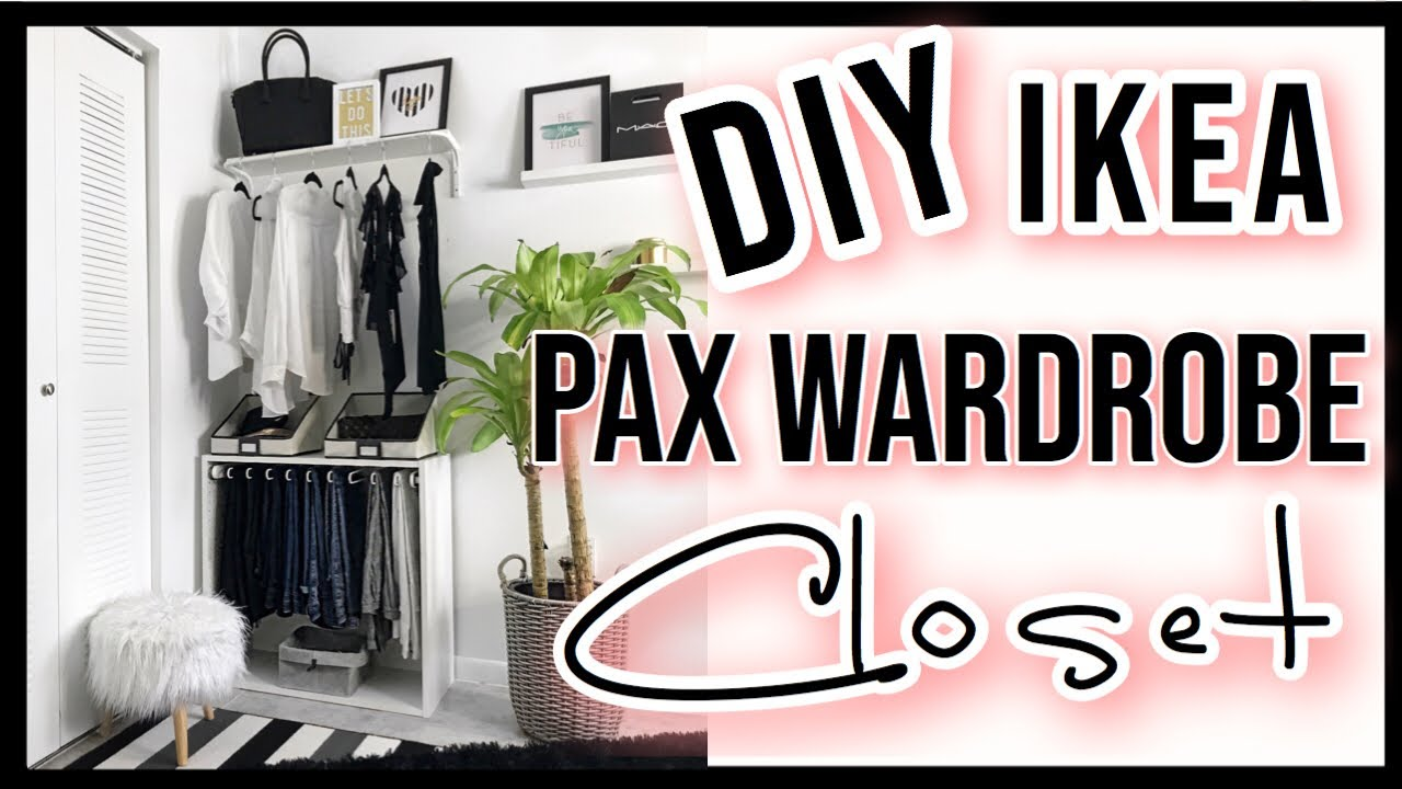 IKEA Hack | DIY PAX Wardrobe System 👗👚👖 - YouTube