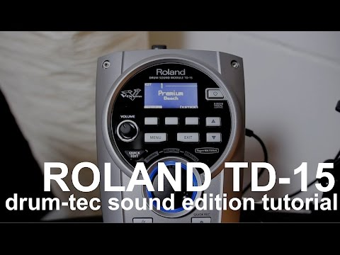 Drum-tec Tutorials: How To Load Additional Drum Sounds To Your Roland TD-15 Module