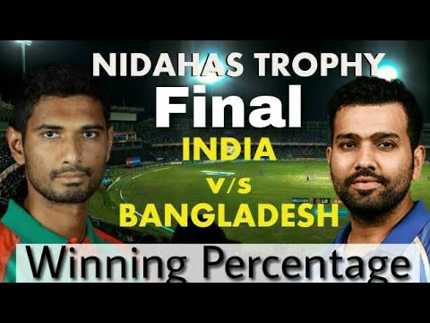 Bangladesh VS India Final T20 Match Winning Percentage | Nidahas Trophy | 18th March 2018