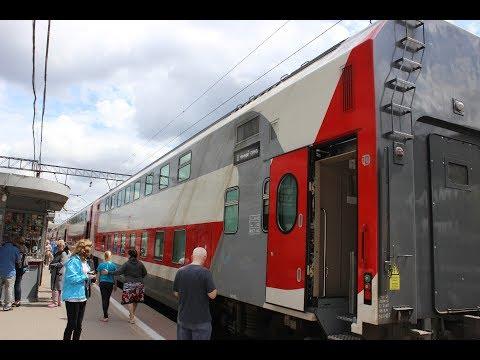 Едем в Отпуск на двухэтажном поезде Санкт Петербург  Адлер