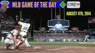 MLB 14: The Show - Game of The Day - Angels vs Dodgers (August 4th, 2014)