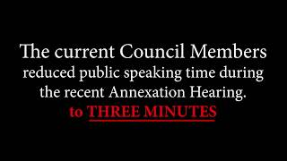 Interruptions at the Annexation Hearing