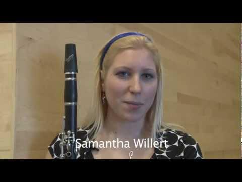 Samantha Willert, Clarinet Player at SUNY Potsdam's Crane School of Music