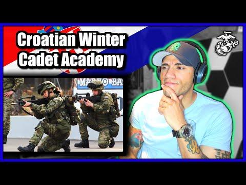US Marine reacts to Croatian Military Cadet Academy