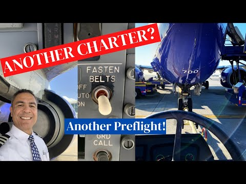 Airline Pilot Life 2020//Another Charter with More B737 Walk Around Footage
