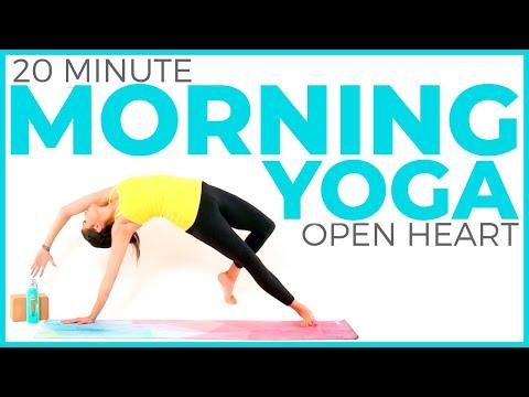 20 minute Morning Yoga for Posture & Heart Opening | Sarah Beth Yoga