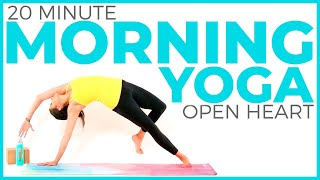 20 minute Heart Opening Yoga Practice | Intermediate Vinyasa Yoga Flow with SAVASANA
