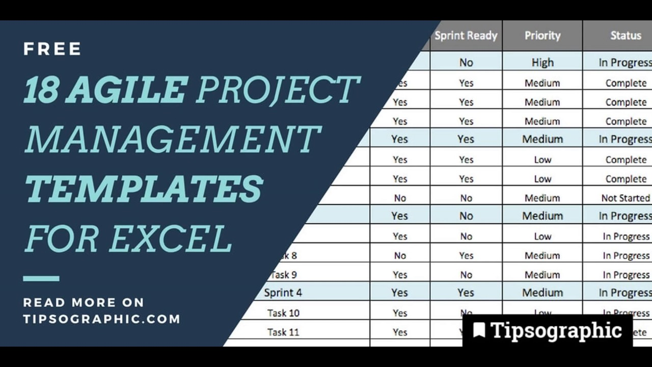 15 agile project management templates in excel free and. Black Bedroom Furniture Sets. Home Design Ideas