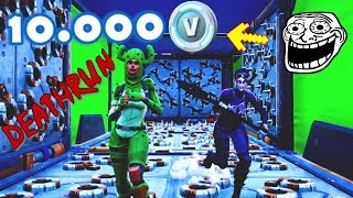 O 10.000 V-BUCKS DEATHRUN Fortnite me faz parar? Deathrun do Fortnite