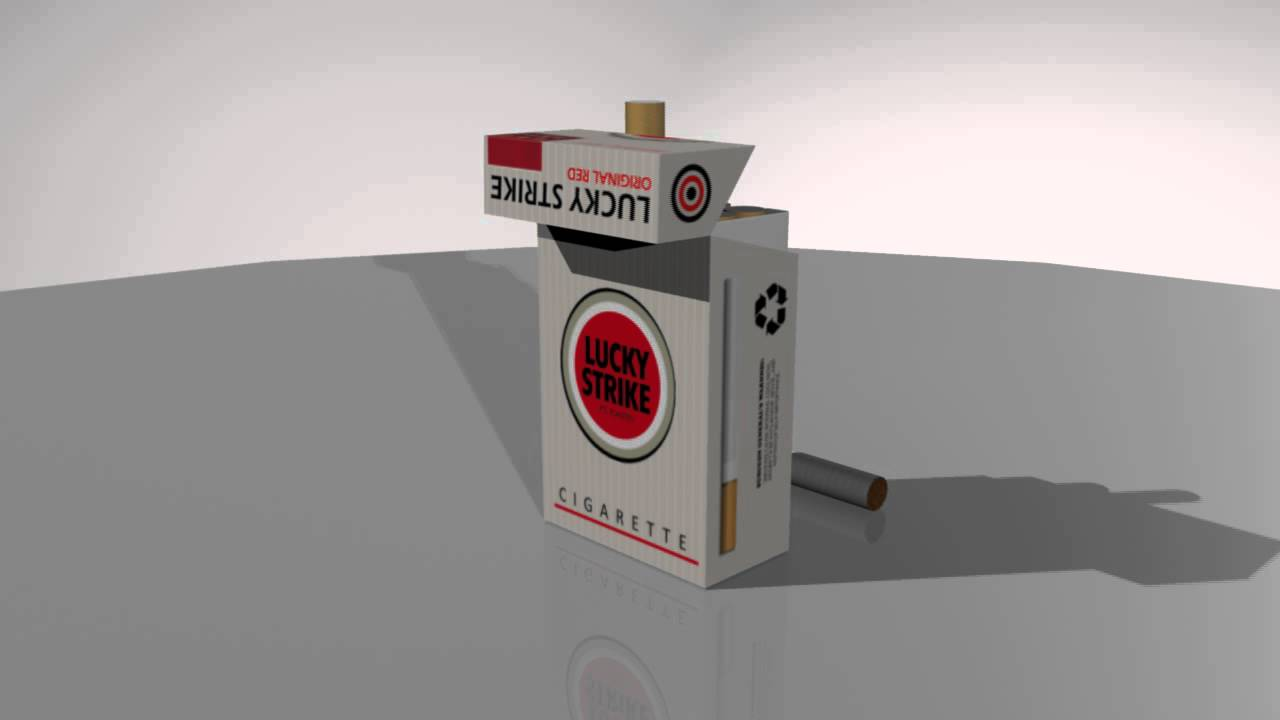 Cigarette box - my frist texture in maya - YouTube