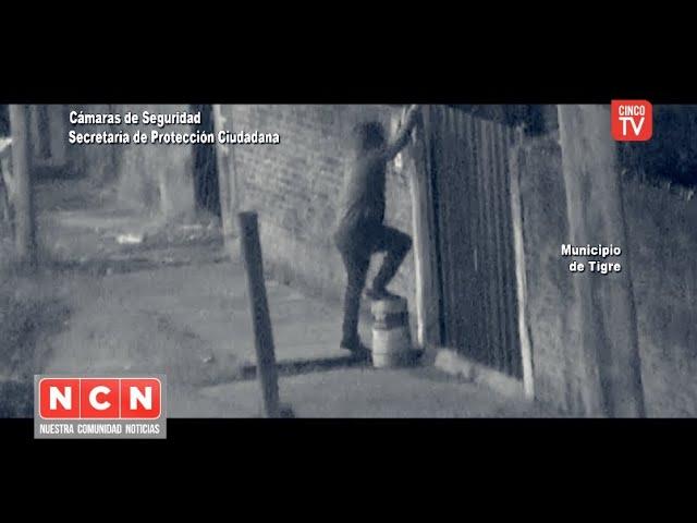 CINCO TV - Trepó un paredón para robar una bicicleta: el #COT lo detuvo en instantes