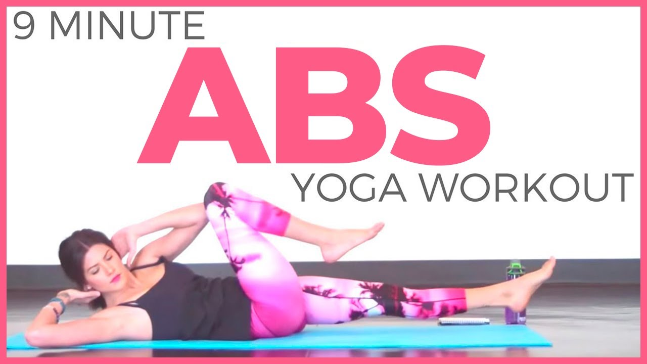 10 Minute Power Yoga Workout For Abs Sarah Beth Yoga Youtube