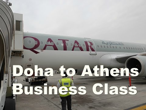 Qatar Airways A321 Business Class to Athens
