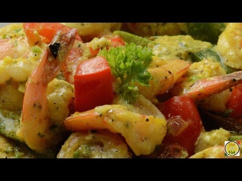 Shrimp In Cream Sauce - By Vahchef @ Vahrehvah.com