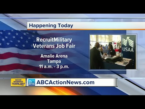 97 companies look to hire veterans at job fair in Tampa on Thursday