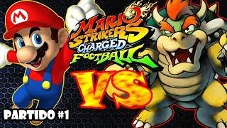 Mario strikers | liga boom | partido #1 de 100 | mario vs bowser