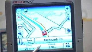 GOGOindia G35 Demo part 2of3 All India GPS Car Navigation