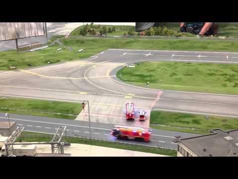 Hamburg airport fire service responding