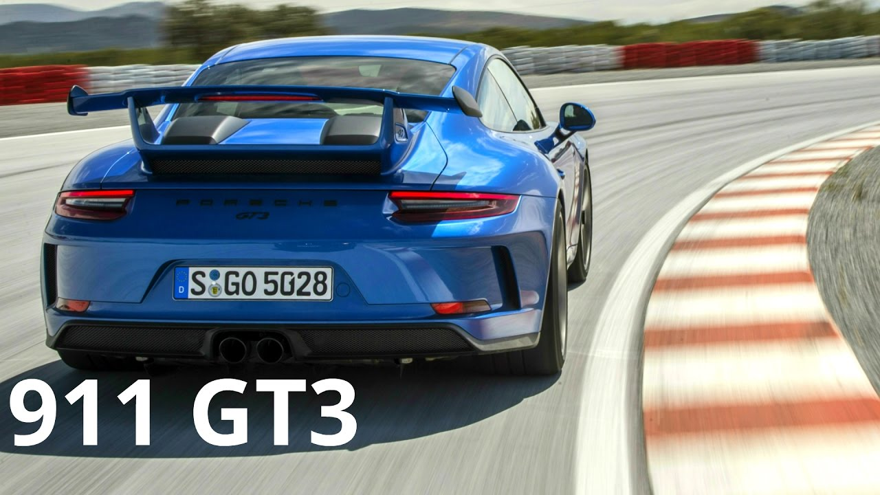 2018 Blue Porsche 911 GT3 - Awesome 500 hp Engine Sound and Track ...
