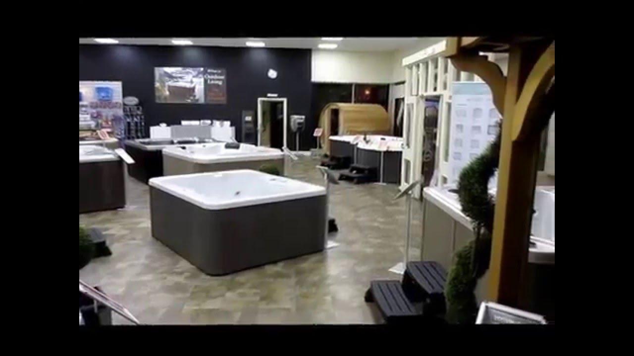 outdoor living hull hot tub showroom youtube
