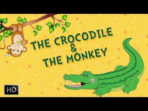 Tales of Panchatantra - The Crocodile And The Monkey - Moral Stories for Kids - Animated Cartoon