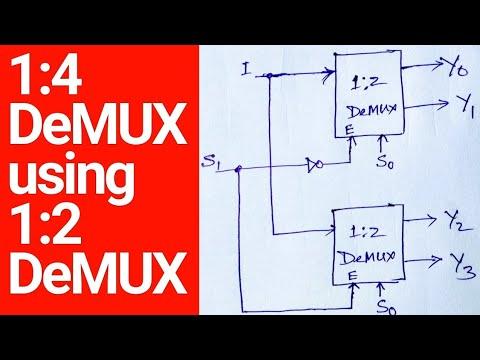 1 4 Demux Design Using 1 2 Demux Youtube