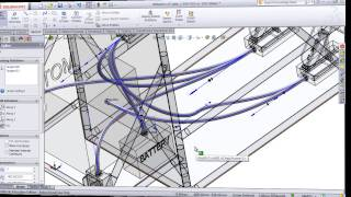Routing Cables and Wires in SolidWorks Electrical 3D(This is a SolidWorks Electrical Education Edition tutorial for the academic year 2013-2014. This video shows you how to connect the electrical components in ..., 2013-11-11T18:00:01.000Z)