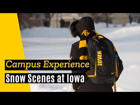 2018 Campus Snow Scenes - University of Iowa