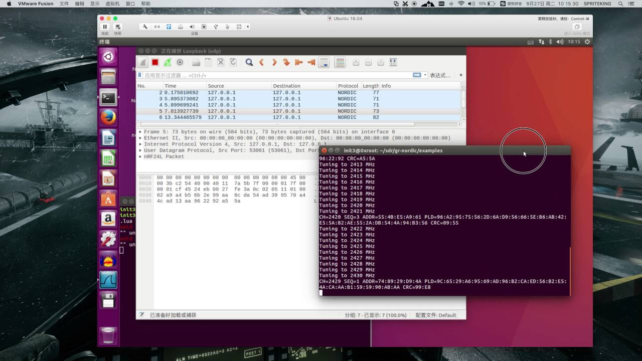 Nordic Chip Keyboard And Mouse Sniffer With gnuradio+SDR