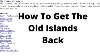 How To Access The Old Islands In Poptropica