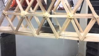 Popsicle Stick Truss Bridge 3-point Force Test