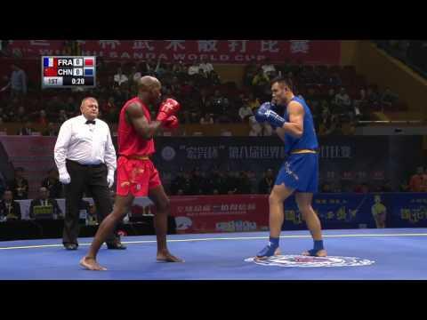 Sanshou Sanda 2016 World Cup Semi Finals France vs China 85 Kg Men