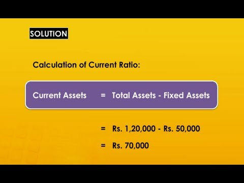 Current Ratio - Current Assets - Current Liabilities - Learn
